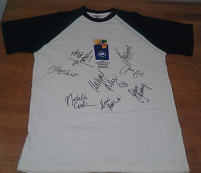 The LAST Goodwill Games 2001 Brisbane signed polo shirt Australian athletes