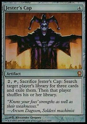 FOIL Jester's Cap ~ From the Vault: Relics ~ NearMint ~ Magic The Gathering