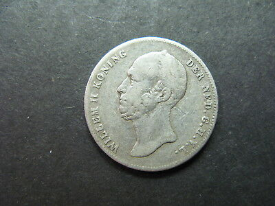 Netherlands, A Circulated 1/2 Gulden Silver Coin Dated 1848, Collectable Grade