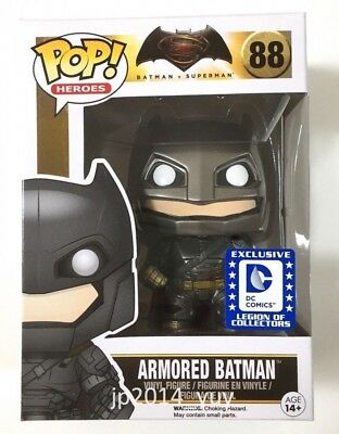 Funko Pop EXCLUSIVE Batman Superman Dawn of Justice Armored Batman Vinyl Figure