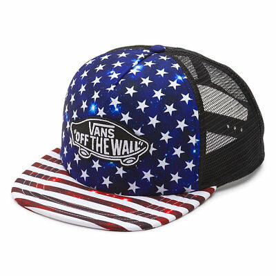 dc89ea31a87 VANS - Mens Snapback Trucker Hat (NEW) Americana STARS STRIPES America Flag  USA