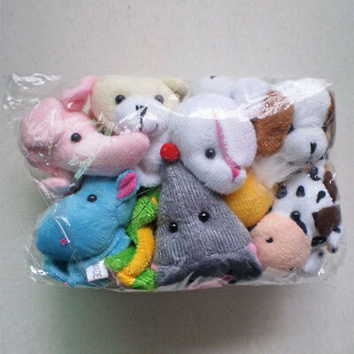 10 Family Finger Puppets Cloth Educational Cartoon Animal Toys Child Kids Baby