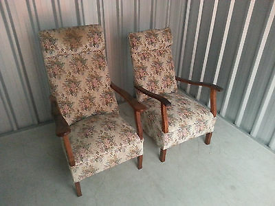 1950s Upholstered His'n'Hers rocking chairs