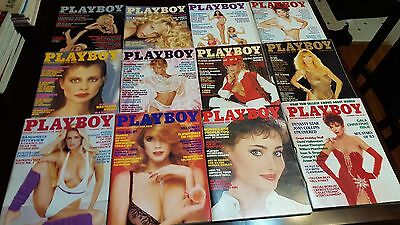Original Vintage 1983 Playboy Magazine Full Year 12-Issues Complete Set