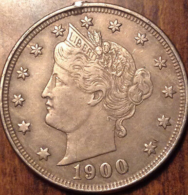 1900 Usa 5 Cents Liberty In High Grade Ex Mount