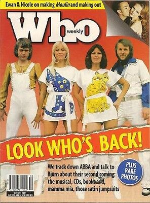 ABBA Import Magazine Who Weekly Where are they Now Celebrity