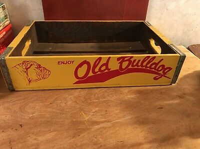 Old Bulldog Soda Wood Crate  12 X 18 Good Paint Great Display Piece