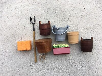 Lot Breyer Horse Traditional Accessories Buckets Feeding Stable Supplies Hay