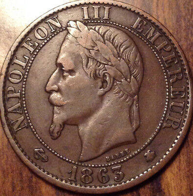 1863-A France 5 Centimes In Great Condition