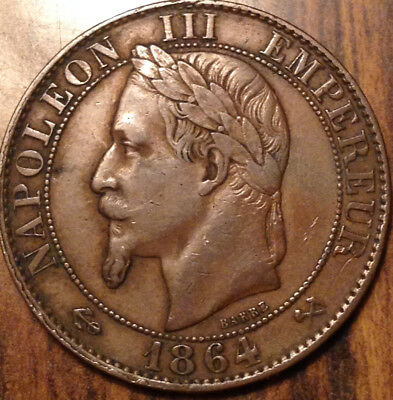 1864-K France 5 Centimes In Great Condition