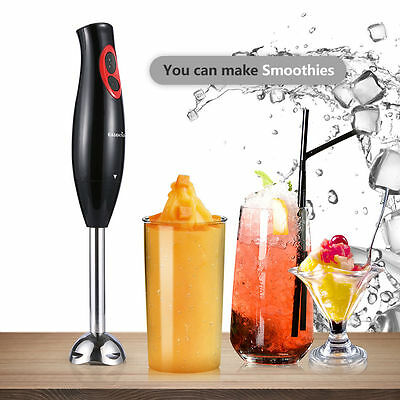 AU Hand Blender Stick Electric Mixer Food Fruit Milk Shake Juice Chopper 2 Speed