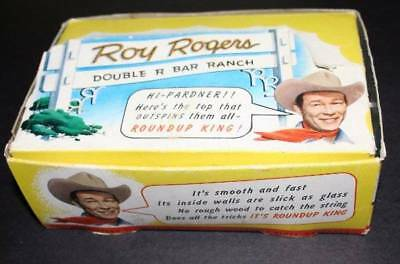 Roy Rogers Roundup King Tops -1951  Original Box with 9 Unused Tops