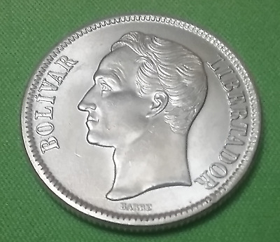 Silver 835 Coin Gram. 10 2 Bolivares Venezuela 1945 Dollar 10g Best Offer Y#23a