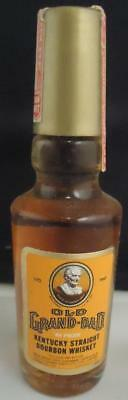 Vintage Old Grand-Dad Kentucky Whiskey Mini Bottles with tax stamps decanter