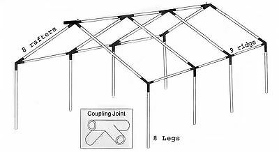 20x40 party tent frame only
