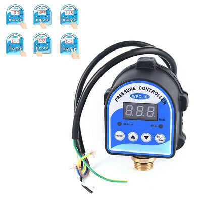 Digital water pressure switch controller programmable memory 240V 10A 10 Bar