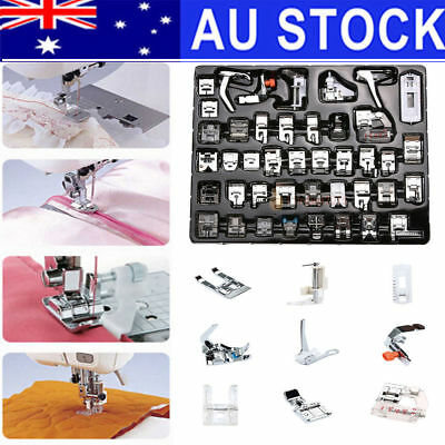 42 PCS 400g Domestic Sewing Machine Foot Feet Snap On For Brother Singer Set AU