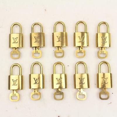 Authentic Louis Vuitton Padlock Set of 10Pairs Gold  112128