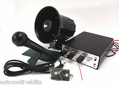 Animal Noise Electric Siren Rainbow Horn 12V Microphone and Amplifier