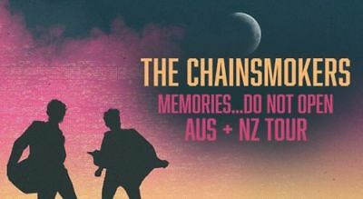 The Chainsmokers |Melbourne| Row E Stalls Reserved Tickets | Fri 20 Oct 2017 6Pm