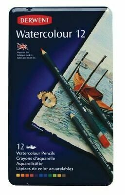 Derwent Watercolour Pencil Tin Of 12