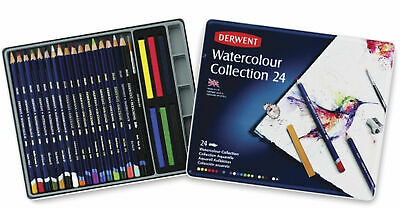 Derwent Watercolour Collection Tin Of 24