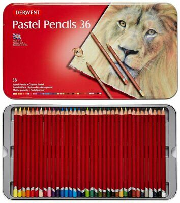 Derwent Pastel Pencils Tin Of 36