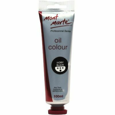 Mont Marte Oil Paint 100ml - Ivory Black