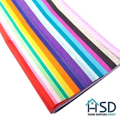 Tissue Paper Multi Colour Pack Large Sheets 50cm x 66cm - 15 Assorted Colours