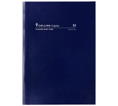COLLINS COLPLAN 2019 1 Year Planner Diary A4 Month to View MTV - NAVY BLUE
