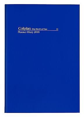 COLPLAN 2018 1 Year Planner Diary A4 Month to View MTV NAVY BLUE Flex Cover x 5