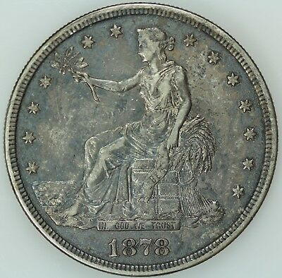 1878 S Trade Dollar! Au Details! $1! Us Coin Lot #6818