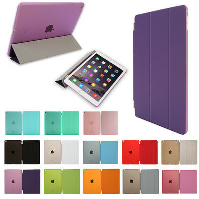 Heat Smart Cover Magnetic Leather Hard Case For Apple iPad 2 3 4 Mini Air LOT