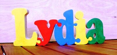 wooden name jigsaw puzzle Free standing PRICE IS PER LETTER