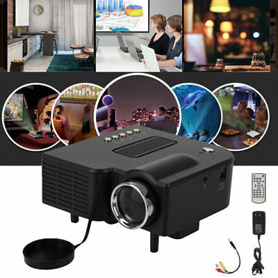 HDMI VGA SD USB AV Portable Mini LED Projector Home Cinema Theater Wierless 3D