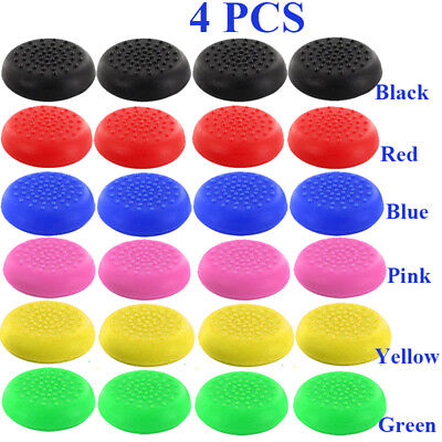 4 pcs Silicone Thumb Stick Cover Cap For PS4 Analog Controller 8 colors