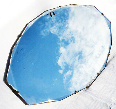 Vintage Art Deco bevelled edged wall mirror 1920/30s