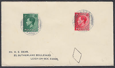 1937 KVIII 1/2d+1d on Cover, Arden/Alexandria CDS (Scotland): Leigh-on-Sea,Essex