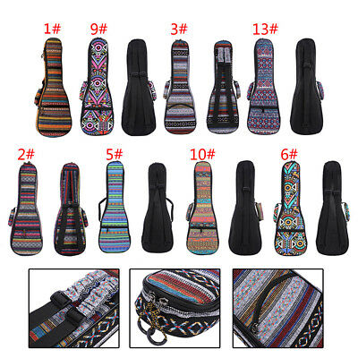 "21'' 23'' 26"" Folk Concert Ukulele Gig Bag Case Ukulele Uke Uku Bag Soft Padded"