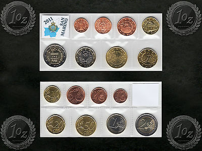SAN MARINO complete EURO SET 2011 - 8 coins SET (1 cent - 2 Euro) UNCIRCULATED