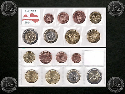 LATVIA complete EURO SET 2014 - 8 coins SET (1 cent - 2 Euro) UNCIRCULATED