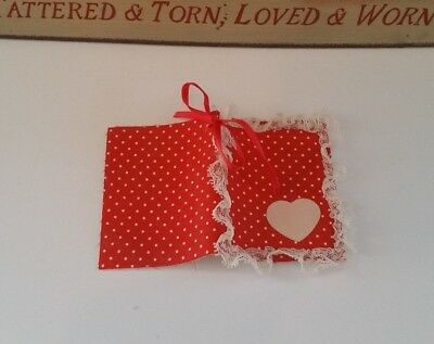 Accessory for My child doll ~ vintage red polka dot book ~ pages to be cleaned
