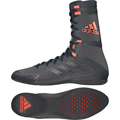 Adidas Speedex 16.1 HC Boxing Boots Mens Grey & Red Sports Shoes Trainers