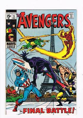 Avengers # 71 The Final Battle ! 1st Invaders grade 8.5 scarce book !!