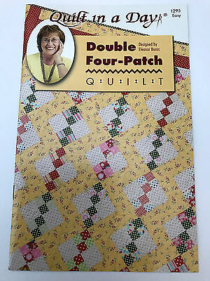 Quilt In A Day Double Four Patch Quilt Pattern By Eleanor Burns Usa