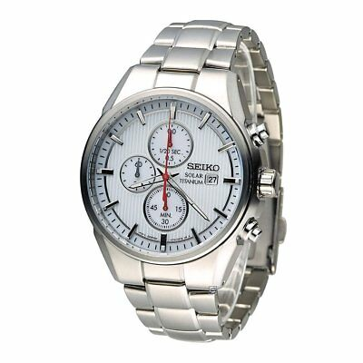 Seiko Solar Men's Chronograph Watch, Titanium