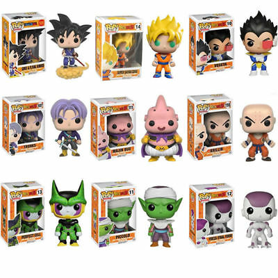 Exclusive Pop Dragon Ball Z Super Saiyan Goku Vegeta Majin Buu Trunks Figure toy