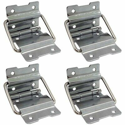Pack of 4 Silver hold hinge For Custom or Repair Case