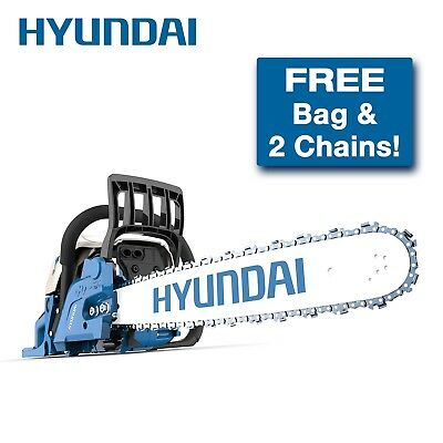 "Hyundai 62cc 2 Stroke Petrol Chainsaw with 20"" bar and chain"