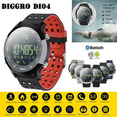 Diggro DI04 IP68 5ATM Bluetooth SmartWatch Reloj inteligente Para Android IOS ES